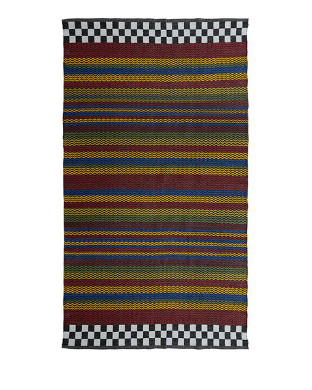 MacKenzie-Childs Kasbah Stripe Indoor/Outdoor Rug, 5' x 8'