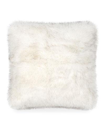 Blizzard Large Faux-Fur Pillow