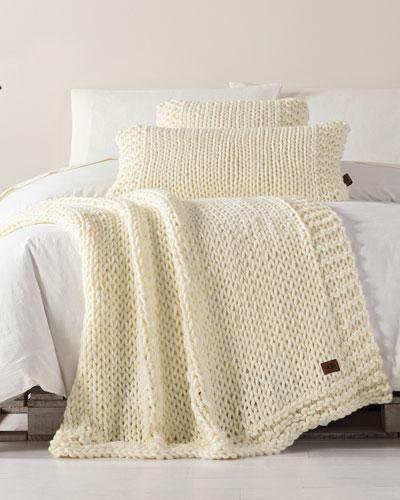 Wharf Knit Throw Blanket