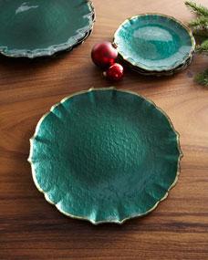 Set of 4 Vietri Pastel Glass Aqua Service Plate//charger