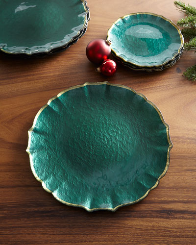 Pastel Glass Service Plate/Charger  Emerald
