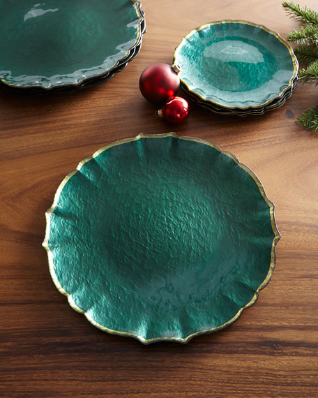 Pastel Glass Service Plate/Charger, Emerald