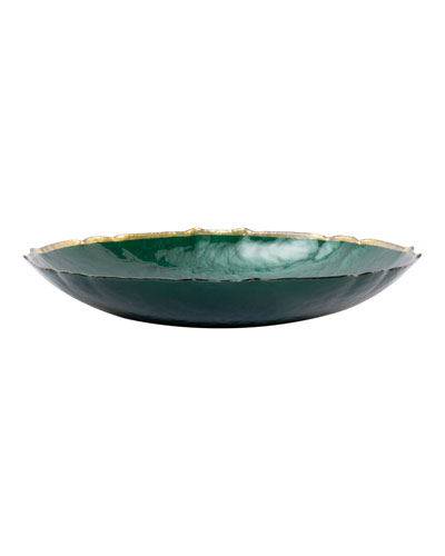 Pastel Glass Medium Bowl, Emerald