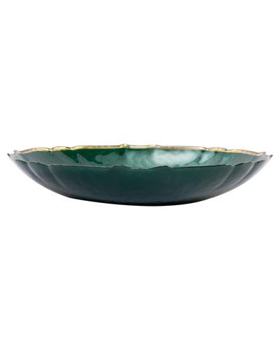 Pastel Glass Large Bowl, Emerald