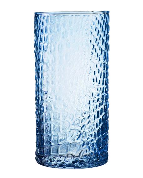 Bistro Croc Blue Highball Glasses, Set of 4