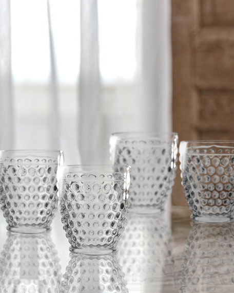 Bistro Dot Clear Old-Fashioned Glasses, Set of 4