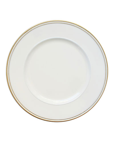 Elle White/Gold Rimmed Chargers  Set of 4