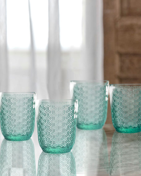Bistro Key Green Old-Fashioned Glasses, Set of 4
