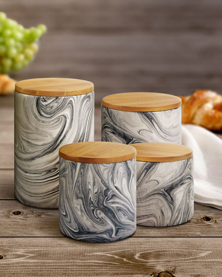 Marble Gray 4-Piece Canister Set
