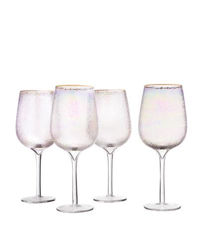 Celine Gold Wine Goblets, Set of 4