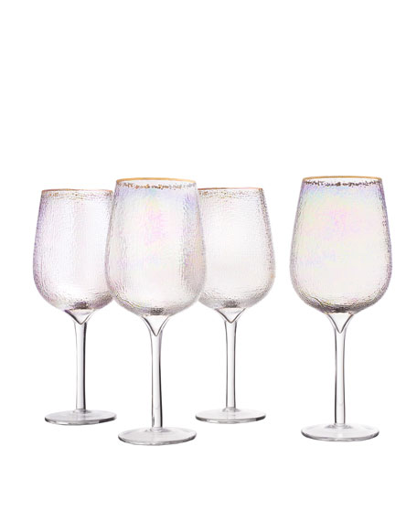 Celine Gold Wine Goblets, Set of 4