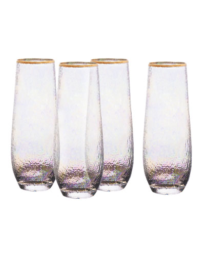 Celine Stemless Champagne Flutes, Set of 4