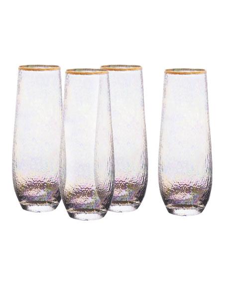 Celine Stemless Champagne Flutes, Set of 4