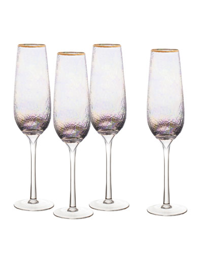 Celine Champagne Flutes, Set of 4