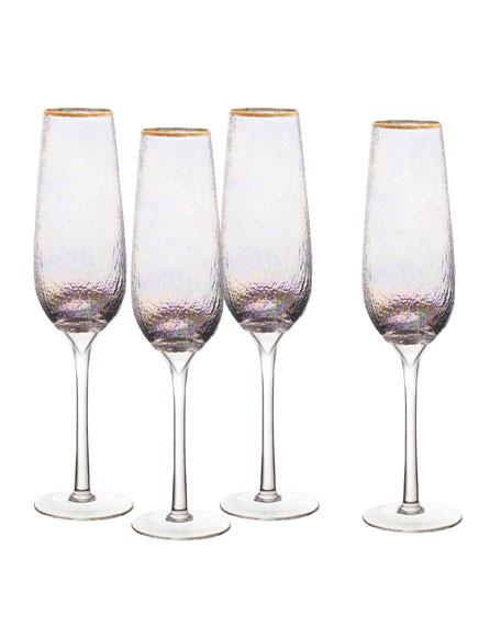 Celine Champagne Flutes, Set of 4