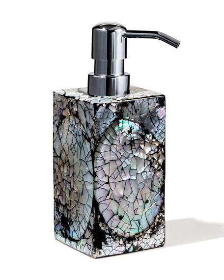 Mother-of-Pearl Soap Pump Dispenser