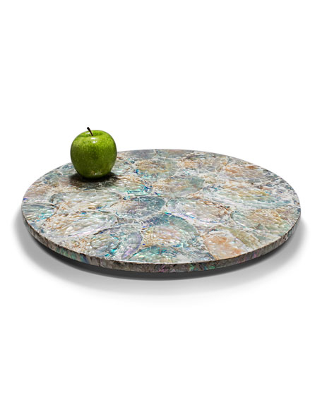 Mother of Pearl Natural Revolving Tray