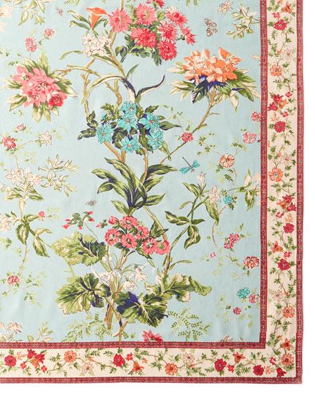 Handprint Corsica Sky Tablecloth, 72
