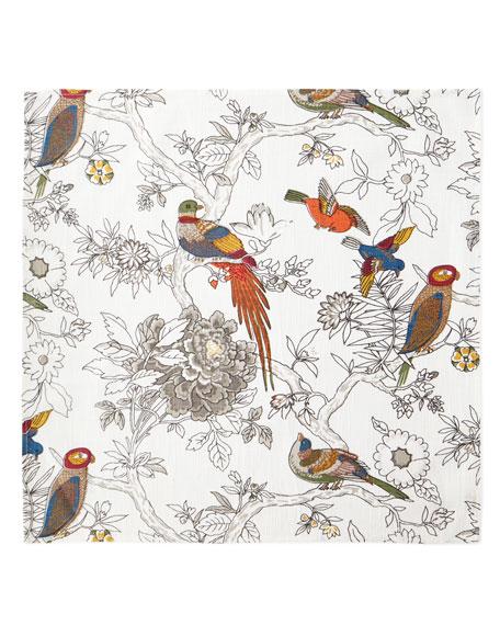 Handprint Bird & Floral Napkins, Set of 4