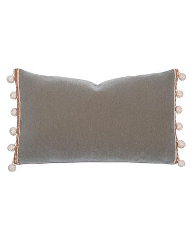 Canyon Clay Decorative Pillow w/ Pompom Tassels