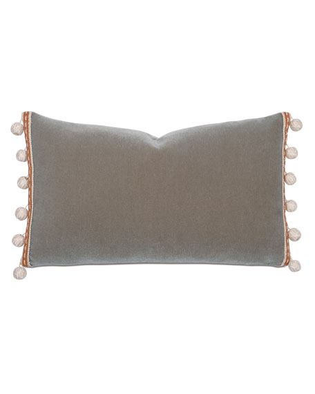 Canyon Clay Decorative Pillow w/ Pompom Tassels