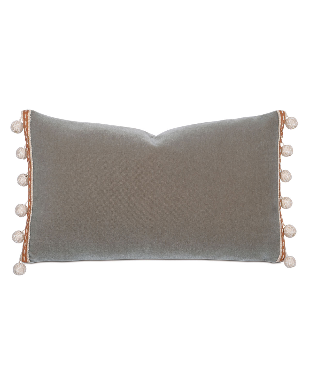 Eastern Accents Canyon Clay Decorative Pillow W Pompom Tassels