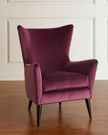 Becca Velvet Wing Chair