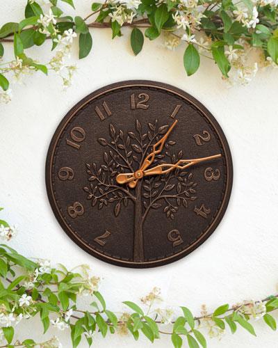 Tree of Life 16 Indoor/Outdoor Wall Clock