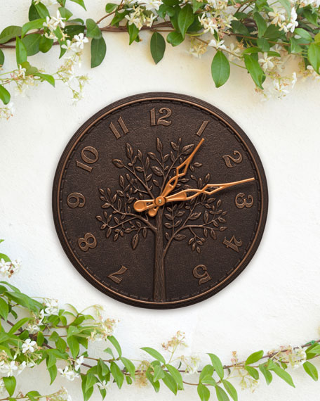 "Tree of Life 16"" Indoor/Outdoor Wall Clock"