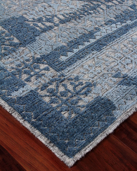 Baker Hand-Knotted Wool Area Rug, 6' x 9'