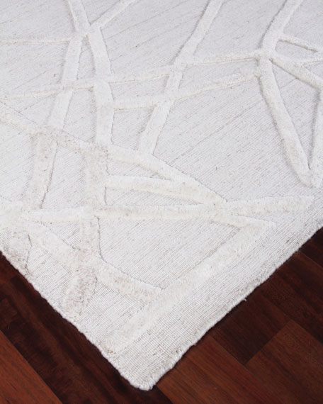 Georgia Hand-Woven Wool Area Rug, 10' x 14'