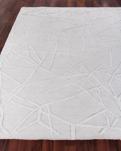 Georgia Hand-Woven Wool Area Rug, 8' x 10'