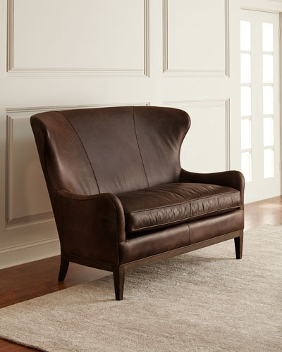 Shannon Leather Settee