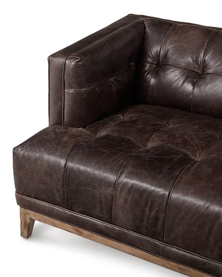 "Quinn Tufted Leather Sofa 91.5"""