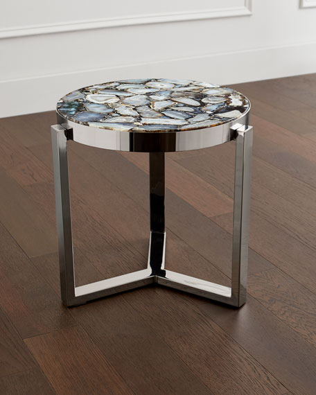 Tabitha Stone Top Side Table