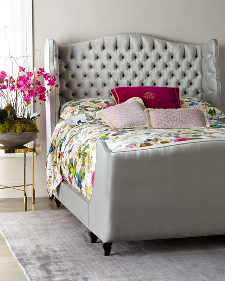 Haute House Beau Tufted Wing Back King Bed