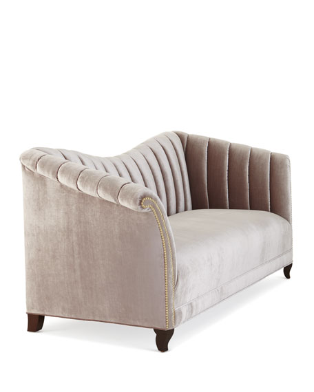 """Moira Channel-Tufted Sofa 87"""""""