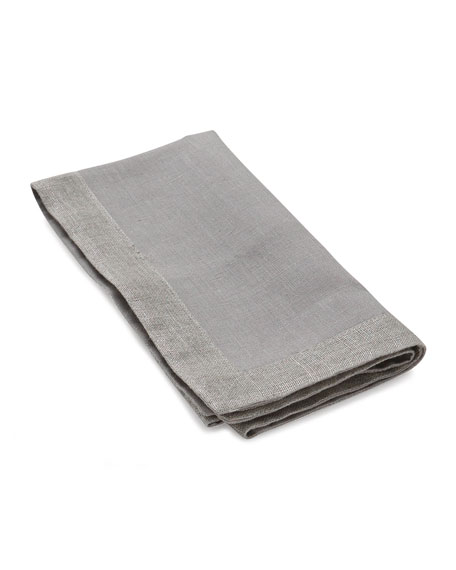 Michael Aram Dinner Napkins with Metallic Flange, Set