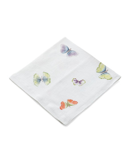 Michael Aram Butterfly Gingko Printed Dinner Napkins, Set