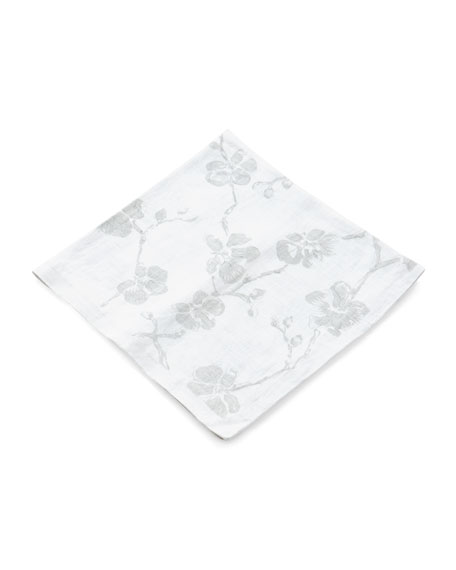 Michael Aram Orchid Printed Dinner Napkins, Set of
