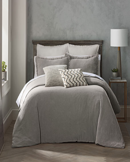 Reese King Duvet Set, Gray