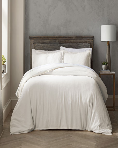 Highline Reese Full/Queen Duvet Set, White