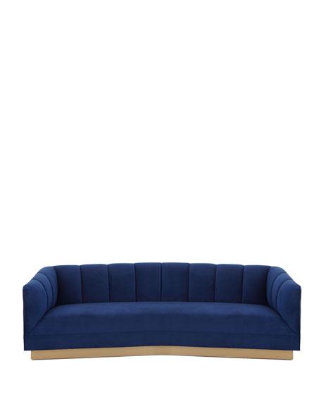 """Charles Boomerang Sofa 97"""""""