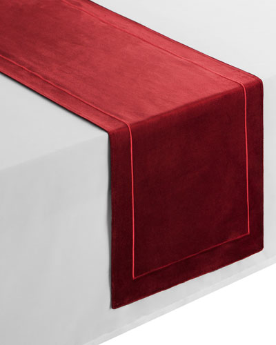 Forester Velvet Table Runner, 14