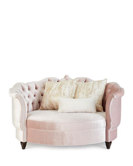 Isabella Blush Cuddle Chair