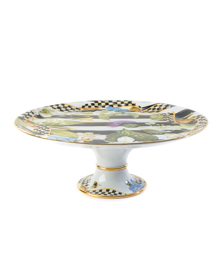 MacKenzie-Childs Thistle & Bee Cake Stand