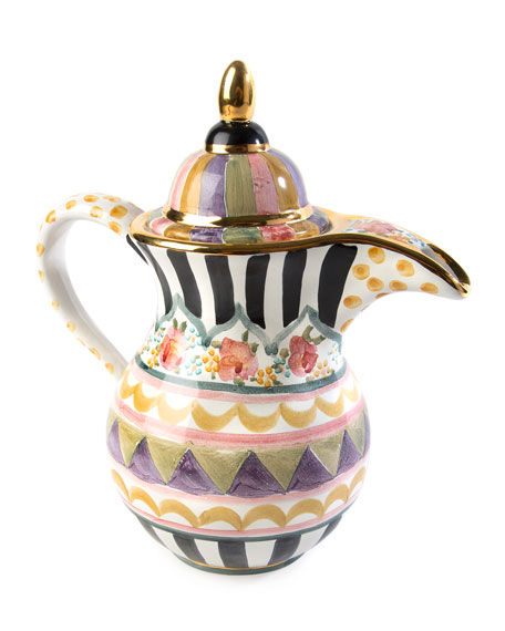 MacKenzie-Childs Bazaar Coffee Pot