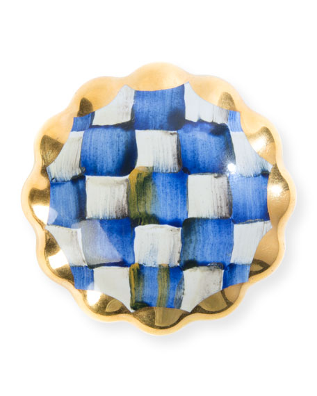 Royal Check Round Majolica Decorative Knob