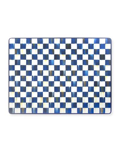 Royal Check Cork Back Placemats  Set of 4