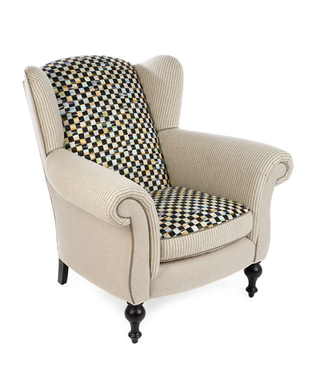 MacKenzie-Childs Underpinnings Studio Wing Chair